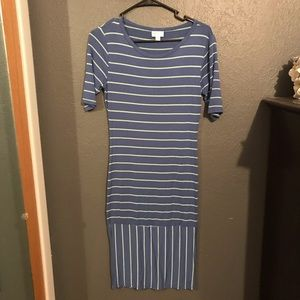 LuLaRoe Blue Striped Dress